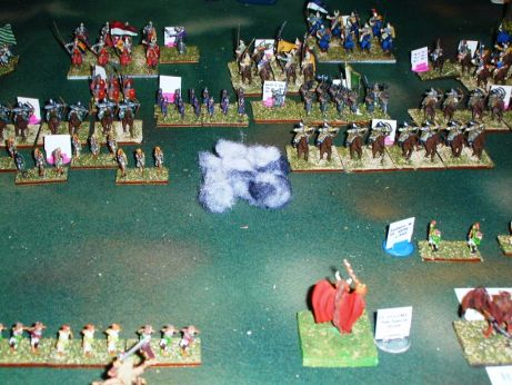 Note the ball of smoke indicating the detonation point for Dubyah's Folly, and the now notable lack of units in front of it!